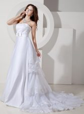 Court Train Embroidery Wedding Bridal Dress 2013 Plus Size
