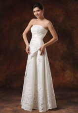 Custom Made Lace Wedding Bridal Dress Ruch Strapless 2013