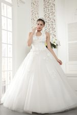 High-neck Beading Wedding Bridal Dress Tulle 2013 Plus Size