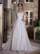 Chapel Ruch and Hand Made Flowers Wedding Dress in 2014