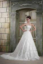 Lace Wedding Bridal Gown Dress 2013 Plus Size Chapel Train