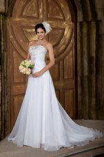 Organza Embroidery Wedding Dress Court Train 2013 Elegant