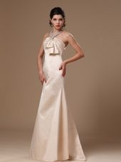 Champagne Strapless Brush Prom Evening Gowns