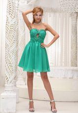 Brand New Beading Sweetheart Green 2013 Homecoming Dresses for Prom