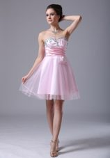 2013Cocktail Dress For Short Sweetheart Pink Beading