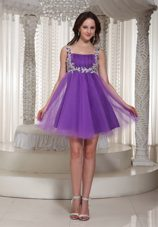 Appliques Straps 2013 Homecoming Dress With Mini-length