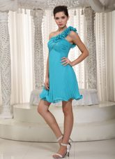 Beading One Shoulder Mini-length Prom Homecoming Dress