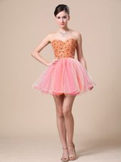 Sweetheart Graduation Dress Beaded Bodice Organza