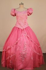Formal Watermelon Floral Sleeves Little Girl pageant Dress 2013