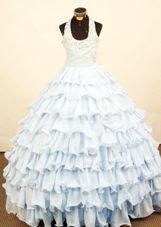 Layered Brand New 2013 Little Girl Dress Beading Decorate Ball Gown