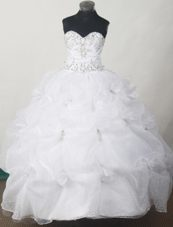 2013 Sweetheart Little Girl Pageant Dresses with Appliques Pick-ups