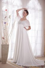 A-Line V-neck Chiffon Beading Mother Of The Bride Dress