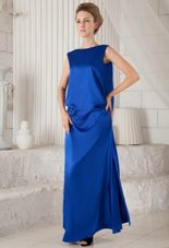 Column MaxiCelebrity Dresses Blue Bateau Ankle-length