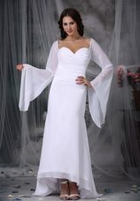 A-line Sweetheart Wedding Dress High-low Chiffon