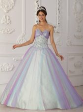 Multi-Color Quinceranera Dress Sweetheart Beading Tulle