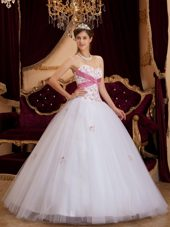Tulle White Princess Sweetheart 2013 Quinceanera Dress