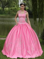 2013 New Arrival Rose Pink Square Neckline Quinceanera Dress