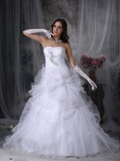 Layers Beading Hand Made Flowers Wedding Dress Bridal Gowns