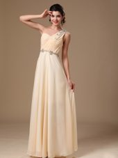 2013 New Styles Champagne One Shoulder Empire Prom Graduation dress