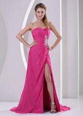 Wonderful Hot Pink Sweetheart 2013 Celebrity Dress Appliques