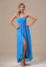 Beading Ankle-length Baby Blue Cheap 2013 Homecoming Dress
