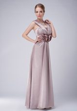 Empire Wide Straps V-neck Mother of The Bride Dress with Flower Waist