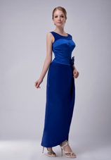 Royal Blue Column Ankle-length Mother of The Bride Dress for Wedding