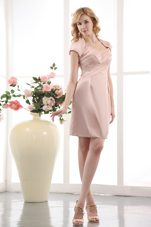 Light Pink Wedding Outfits for Mothers in Short Style