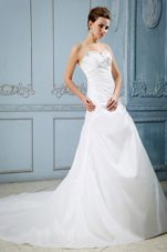 Appliques Beading Court Train 2013 Wedding Dress Sweetheart