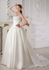 Exquisite Wedding Dresses Court Train Beaded Gowns