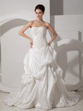 Strapless Taffeta 2013 Wedding Dress at Wholesale Price