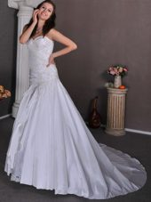 Appliques Popular Wedding Dress A-line Sweetheart