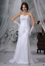 Mermaid Sweetheart Popular Lace Wedding Dress For 2013