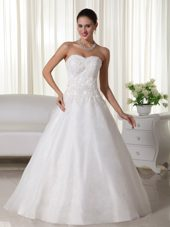 Popular Organza Lace Wedding Dress A-line Sweetheart