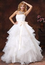 Custom Made Popular Sash 2013 Wedding Dress Ball Gown