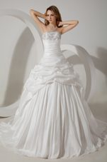 Popular Ball Gown Court Beading Wedding Dress 2013