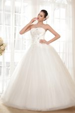 Strapless Appliques Wedding Dress Popular Ball Gown