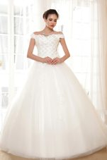 Popular Off The Shoulder Appliques Wedding Dress