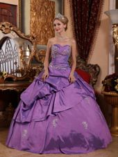 Lavender Pick-ups Appliques Quinceanera Dresses for Military Ball