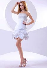 Short Beading Mini-length Strapless 2013 Prom Dress