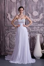 Brand New Sweetheart Beaded Wedding Dress Chiffon Court Train