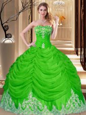 Lovely Sleeveless Tulle Lace Up 15th Birthday Dress for Military Ball and Sweet 16 and Quinceanera