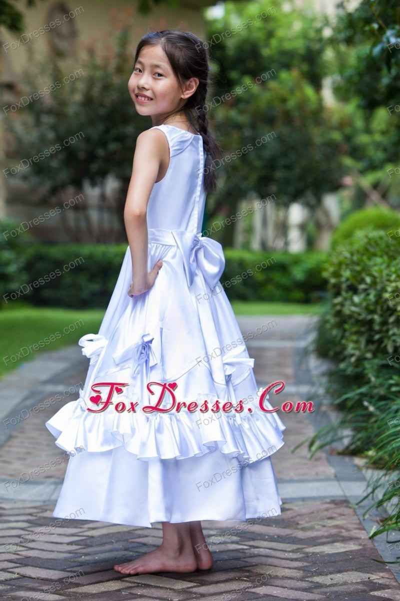 2014 2015 latest baby flower girl dress
