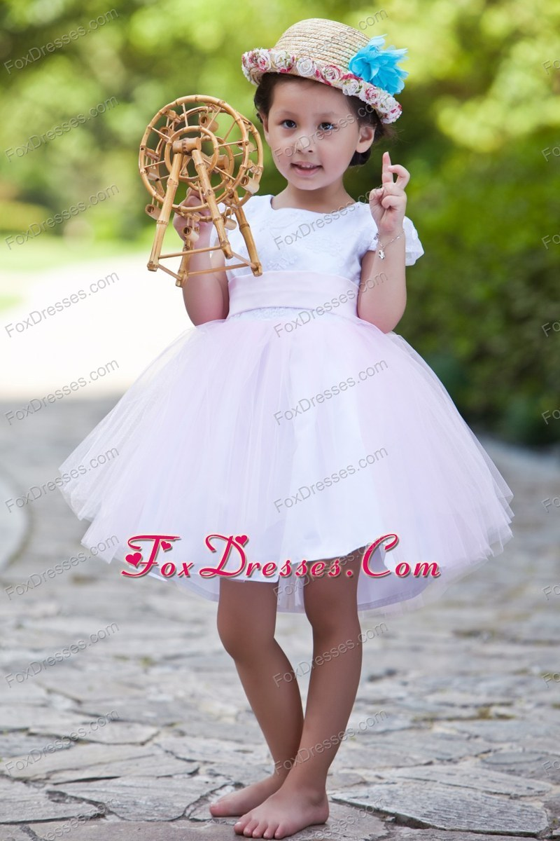 shimmering first communion gown