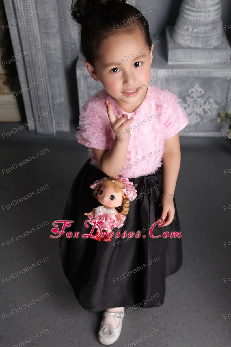 hot sale fitted flower girl dress
