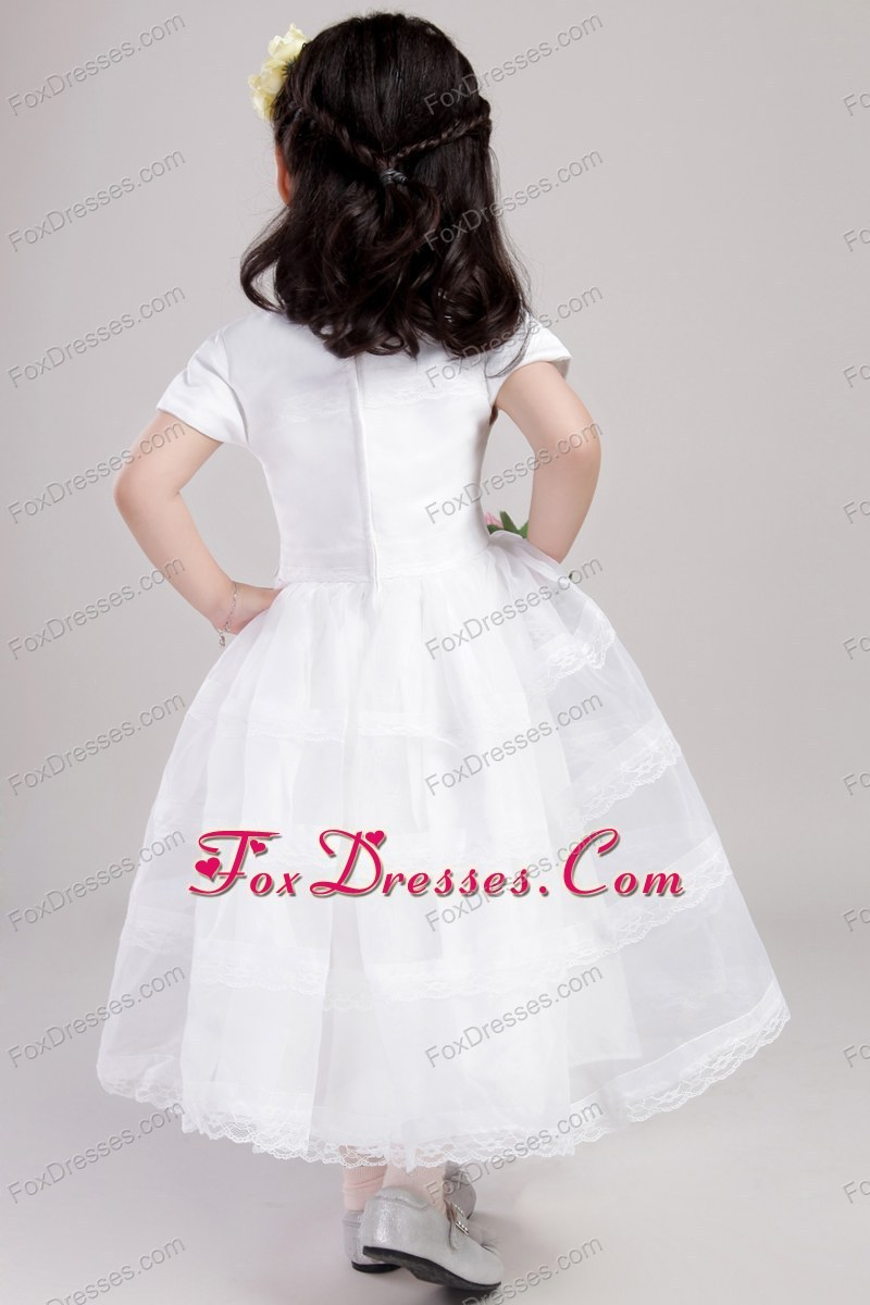 scoop neck flower girl dress