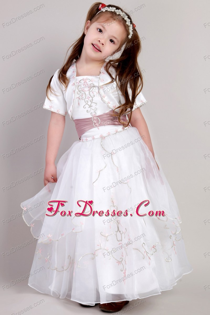 discount flower girl dress with zipper up back