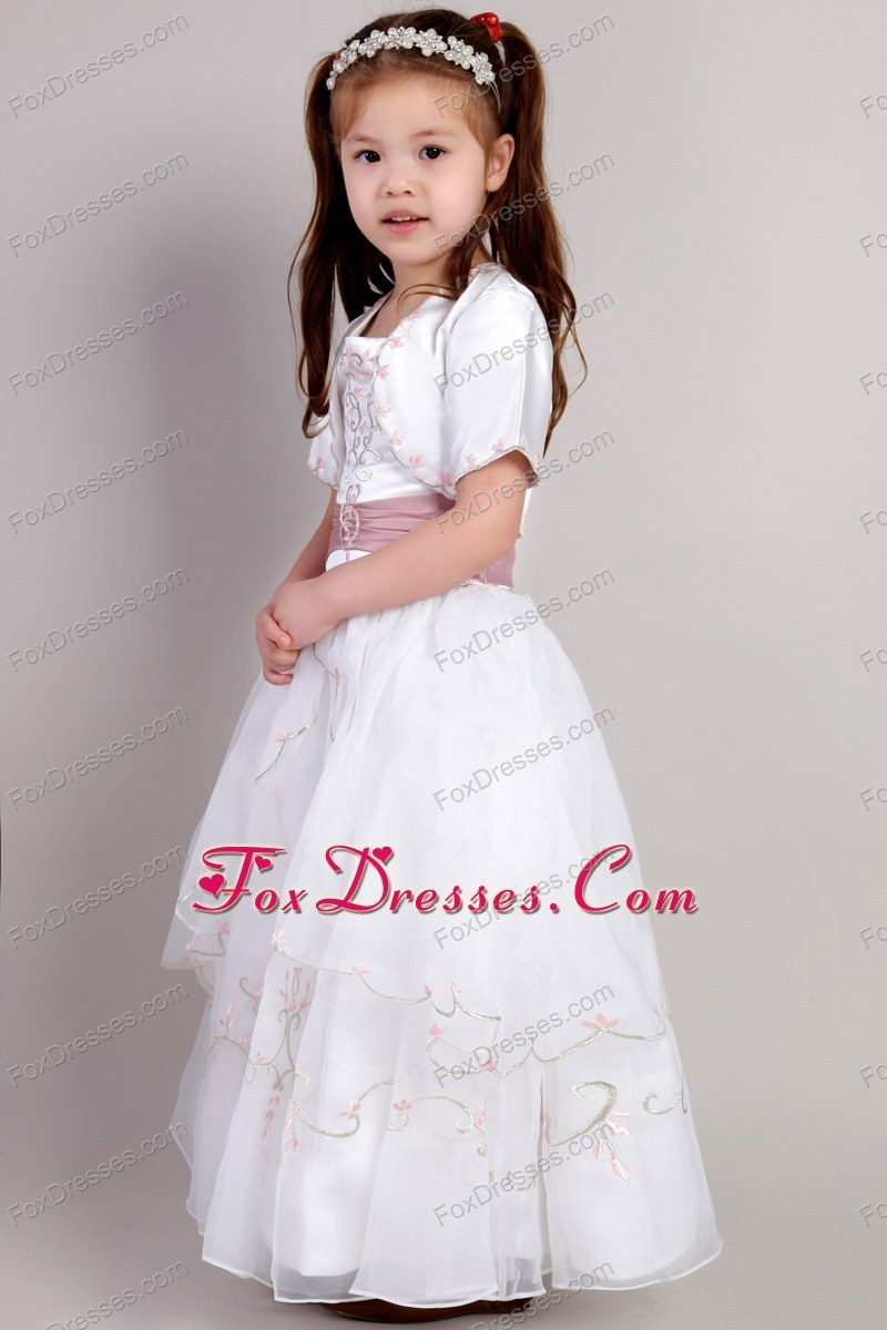 discount flower girl dress in organza