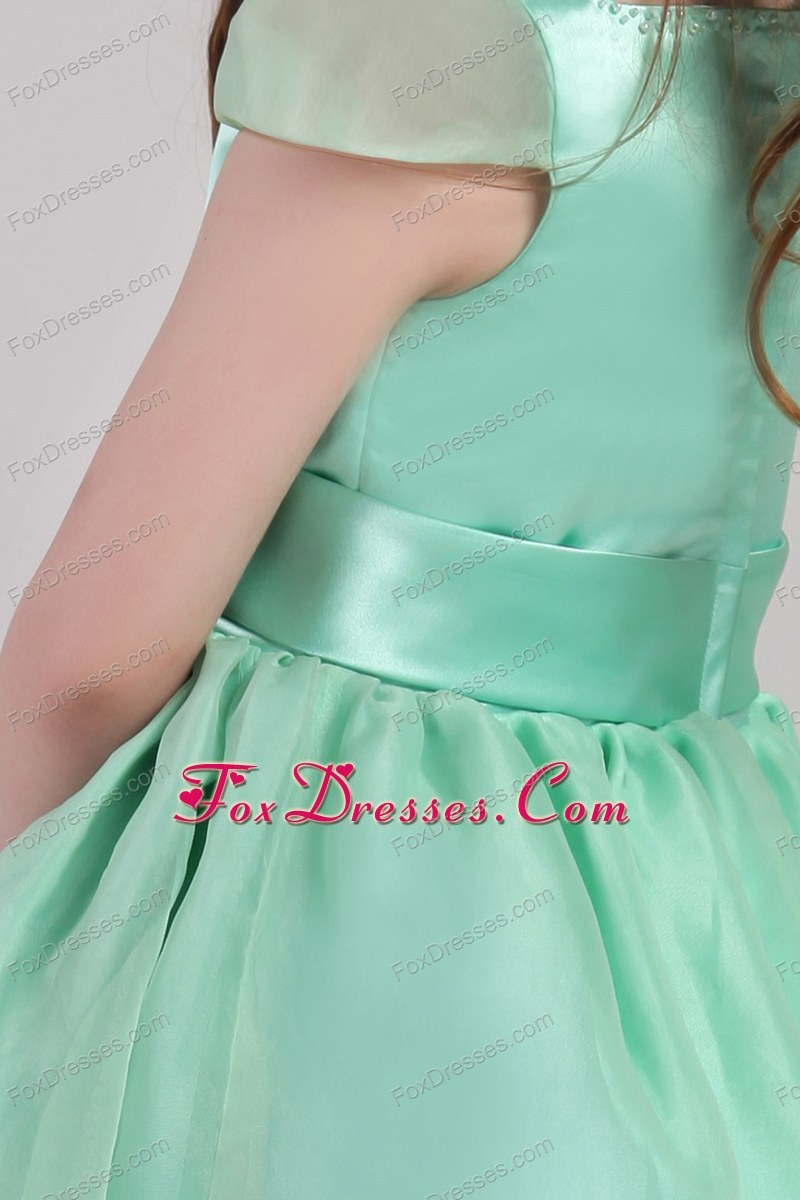 new style a-line flower girl dress