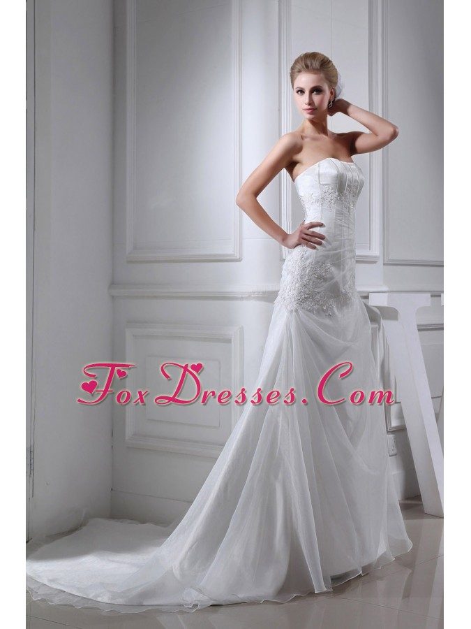 2014 cheap wedding gown for garden wedding